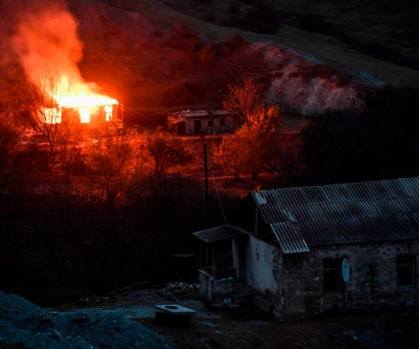Nagorno-Karabakh: Armenians Burn Their Homes And Flee As They Become Refugees From The War